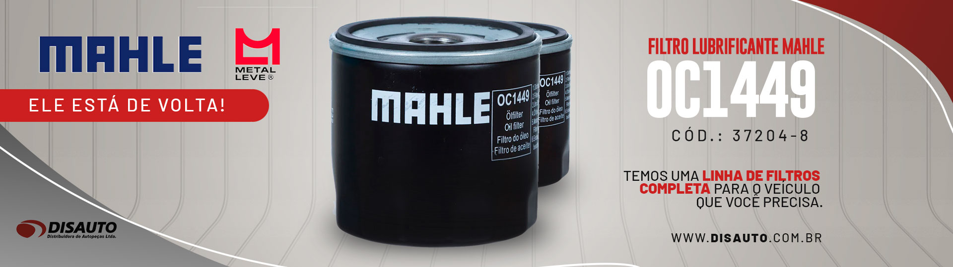 Filtro Lubrificante Mahle